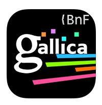 Aplicação da Gallica, a Biblioteca digital da BIblioteca Nacional de França