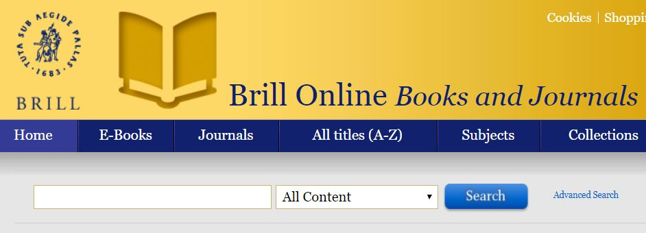 Trial Brill online Books and Journals